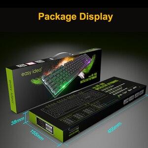 Image 5 - Проводная игровая клавиатура с имитацией механической клавиатуры 104 колпачков клавиатуры с RGB подсветкой эргономичная компьютерная клавиатура