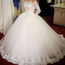 Sexy Women Simple Vintage Off The Shoulder Wedding Dress 2019 Robe Mariage
