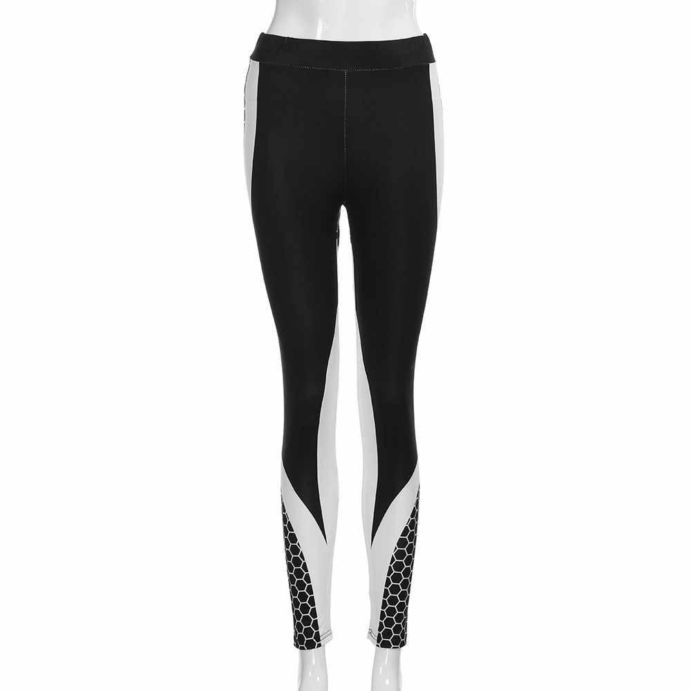 المطبوعة اليوغا السراويل النساء رفع المهنية الجري لياقة بدنية رياضة طماق ضيق بنطلون قلم رصاص Leggins الرياضة فام # YL5