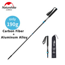 Naturehike 4-Section Folding Trekking Poles Carbon Fiber Ultralight High Toughness Aluminum Alloy Walking Stick Portable Storage