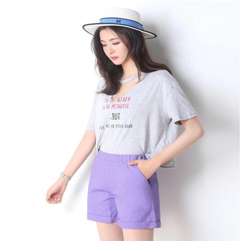 Women's Shorts Feminino Summer Candy Color Elastic Waist Bermuda Black Pink Purple Khahi Plus Size 4xl S White Red Shorts