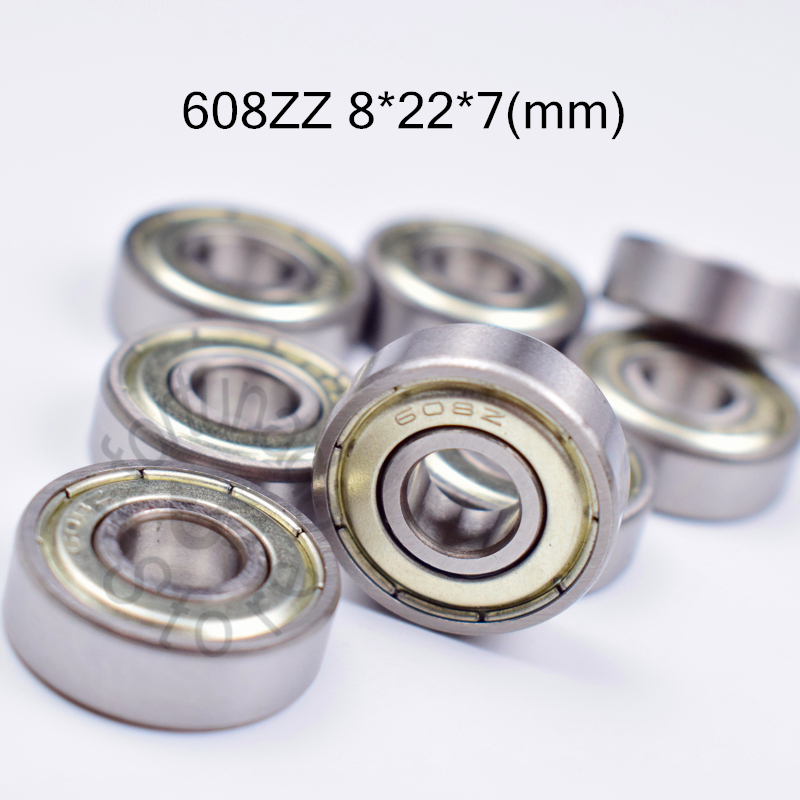 608ZZ 8*22*7(mm) 10pieces Free Shipping ABEC-5 Bearings Metal Sealed Miniature Mini Bearing  608 608Z  Chrome Steel Bearings