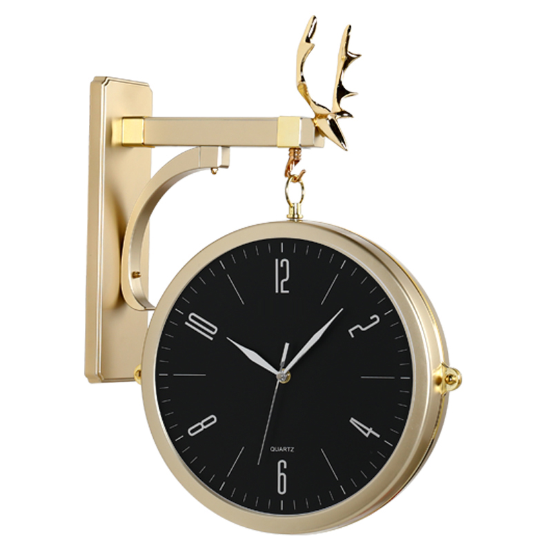 Nordic Luxury Resin Wall Clock Double Sided Electronic Vintage Wall Clock Pointers Reloj Mural Decorativo Home Clocks OO50WC
