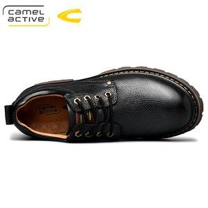 Image 3 - Camel Active New Inglaterra zapatos de cuero genuino con cordones para Hombre Zapatos casuales cosido a mano hombres de suela gruesa zapatos de hombre