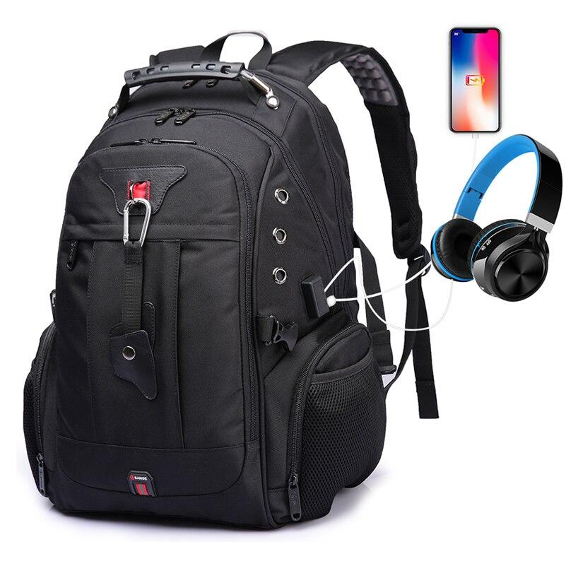 Hommes sac à dos grande capacité multifonction ordinateur portable USB charge casque Port bagages pour décontracté extérieur voyage sacs à dos nouveau