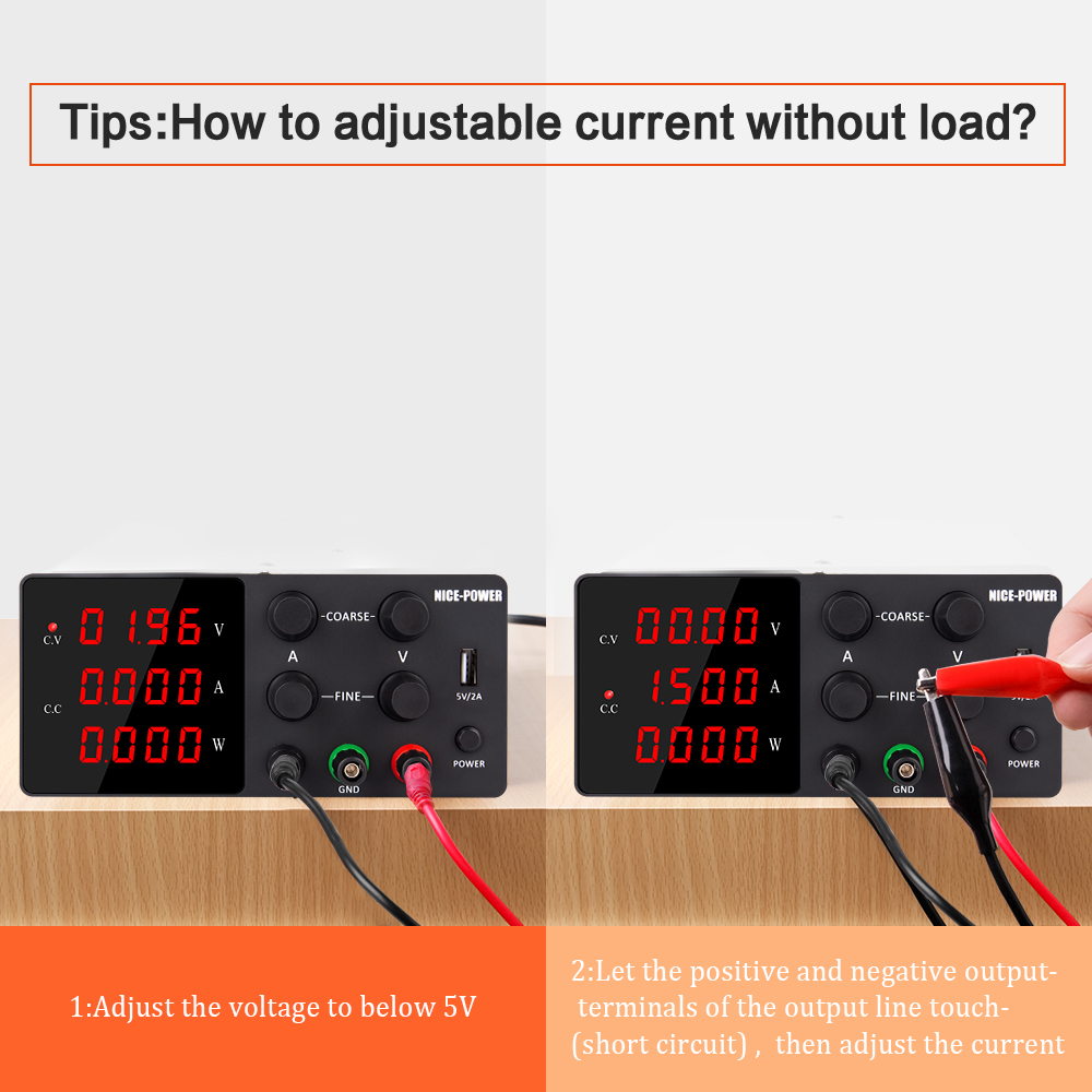 120V 3A Adjustable Power Supply Laboratory Digital Power Supply 30V 10A 60V 5A Bench Source Digital With USB Repair Products-5