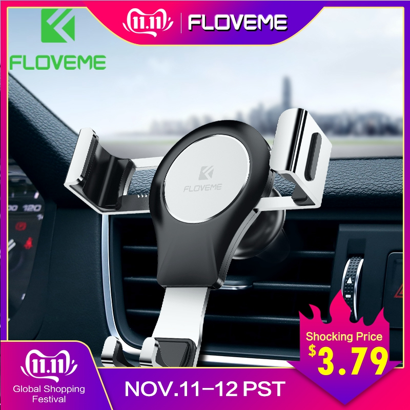 FLOVEME Gravity Car Phone Holder Air Vent Mount Stand For Phone in Car No Magnetic Auto Mobile Holder Smartphone Support Cell-in Phone Holders & Stands from Cellphones & Telecommunications