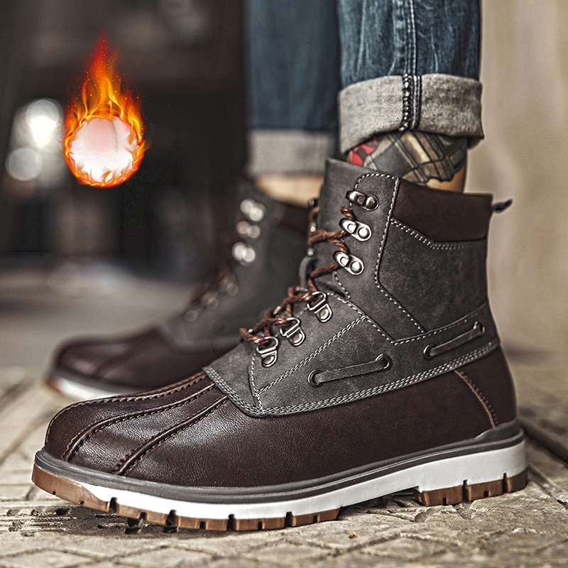 Men Boots Winter Work Boots Style High Quality Ankle Booties Man Shoes Male Casual Sneakers Footwear Adult Leisure Plus Size 46