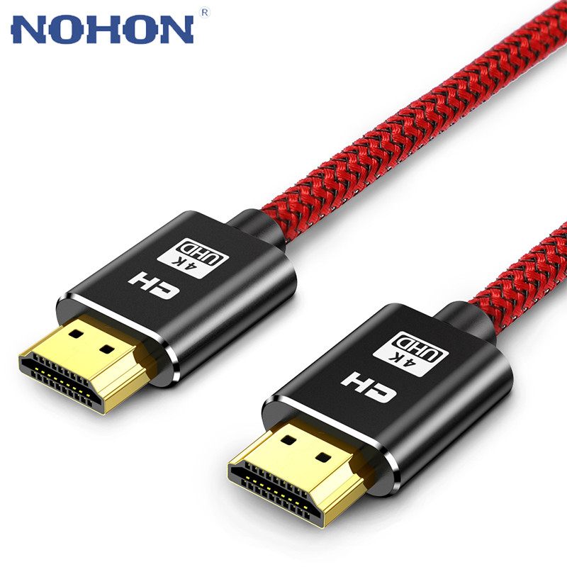 Cabo de vídeo hdmi digital hd, 1m, 2m, 3m, 4k, hdmi, 2160p com ethernet para ps3 projetor lcd apple hdmi cabo digital para tv e computador