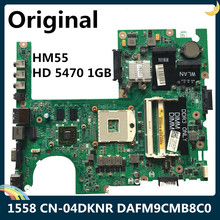 Laptop Motherboard Dell 1558 HM55 for Cn-04dknr/04dknr/4dknr/.. 1GB DAFM9CMB8C0 LSC