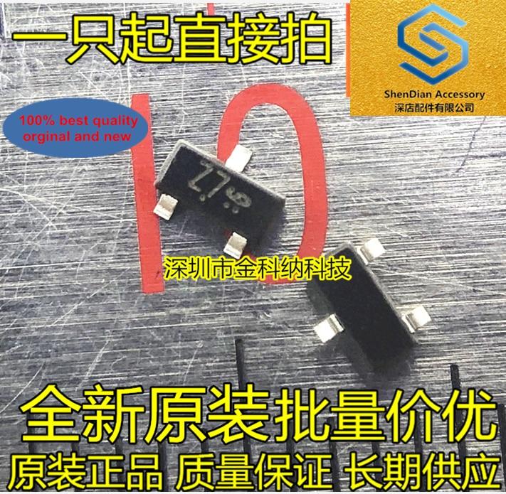 50pcs 100% Orginal New BZX84-C8V2 Screen Printing Z7 SOT23 8.2V Zener Diode Small Triode Real Photo