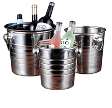 Ice Bucket Stainless Steel Double Walled Beer For Bar Party Champagne Wine Barrel High Quality Cube Container