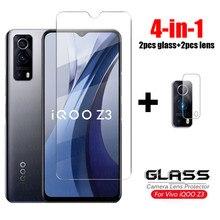 Vidro para vivo iqoo z3 vidro temperado iqoo z3 neo 3 u3x u3 5g hd claro ultra-fino protetor de tela do telefone para vivo iqoo z3 vidro