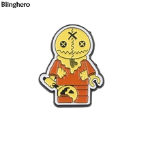 Blinghero Trick 'R Treat Badges Enamel Brooches Badges Metal Lapel Pin Backpack Shirt Pins Cool Brooch For Women Men BH0242
