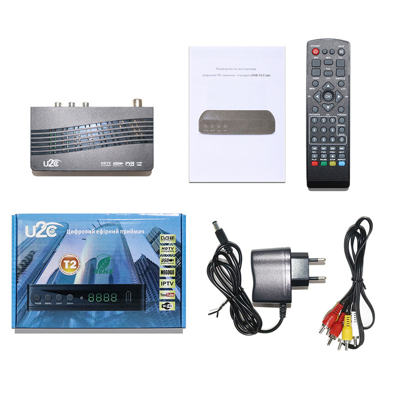 Tv Box U2C Tv Receiver Dvb-t2 Set-Top Box DVB T2 Digital Video Broadcasting Terrestrial Receiver DVB T/T2 Set Top Box TV Set