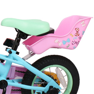 HILAND Kids Bike Seat Post Doll Seat with Holder for Kid Bike with Decorate Yourself Stickers baby bike bicycle baby seat doll