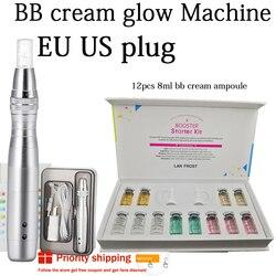 12 pçs/caixa bb creme dermewhite bb soro mix starter kit com base bb niacinamide derma caneta para o brilho eficaz
