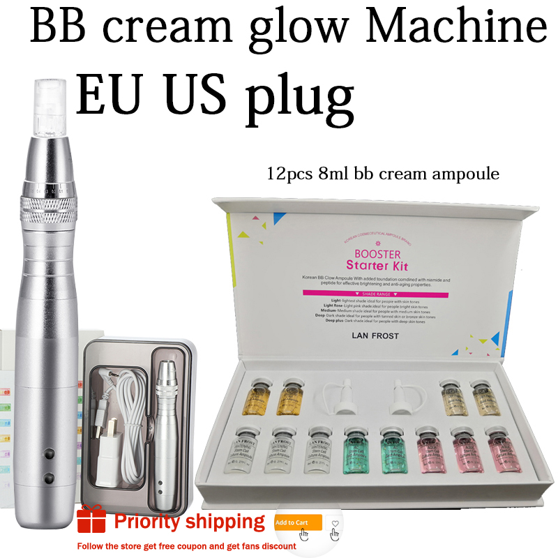 12pcs/box BB Cream Dermewhite Bb Serum Mix Starter Kit With Bb Foundation Niacinamide  Derma Pen  For Effective Brightening