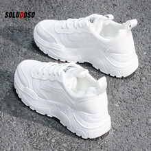 Casual Shoes Women Chunky Sneakers Fashion Dad For Spring Autumn White Black Sneaker Vulcanize
