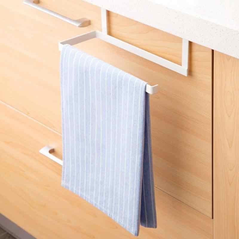 Kuchenny uchwyt na papierowe ręczniki papier toaletowy półka na ręczniki do przechowywania w szafce dziurkacze wolne stojaki na papier kuchenny Sticke Rack żelazny uchwyt na rolkę