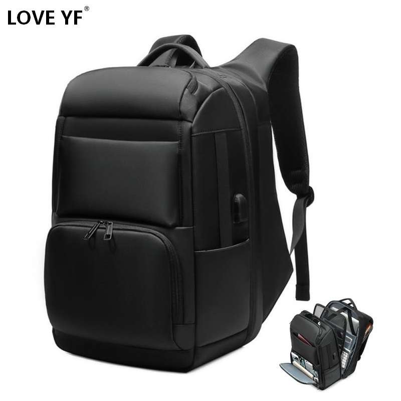 men's backpacks 17.5 <font><b>inch</b></font> <font><b>laptop</b></font> backpack USB Charging high capacity waterproof business travel backpack mochila mujer <font><b>laptop</b></font> image