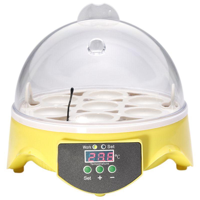Mini 7 Egg Incubator Poultry Incubator Brooder Digital Temperature Hatchery Egg Incubator Hatcher Chicken Duck Bird Pigeon EU Pl