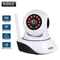 Kerui 720 p 1080 p hd wi fi sem fio de segurança em casa câmera ip rede segurança cctv câmera vigilância visão noturna ir monitor do bebê