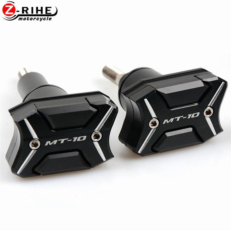 Accessoires moto CNC cadre Crash Pads boîtier de moteur curseurs protecteur Pour avec logo Pour Yamaha MT-10 MT10 MT 10 2016
