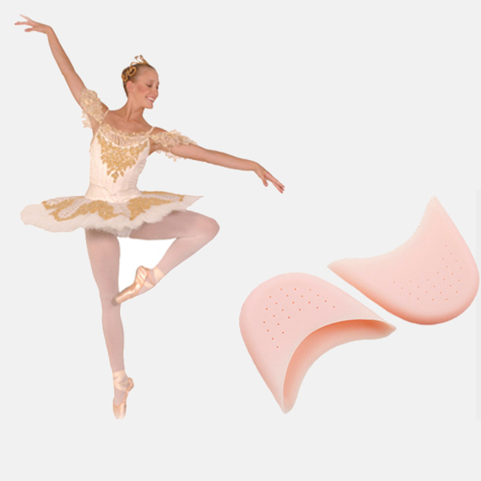 Silicone Gel Dance Point Pads For Ballet Dancing Foot Tip Protector Breathable Hole Sole Shock Absorbing Inserts Insoles