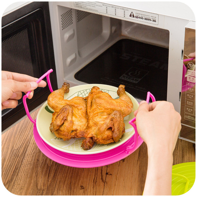 Multifunction Microwave Oven Shelf Double Insulated Heating Tray Rack Bowls Layered Holder Organizer Kitchen Accessories Tool