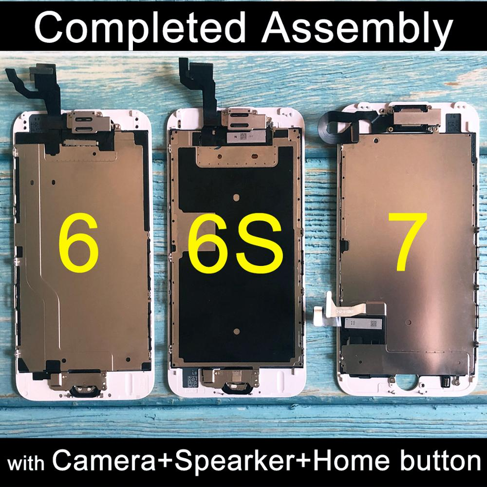 Pour iphone 6 LCD ensemble complet assemblée tactile complet pour iphone 6S écran de remplacement affichage pour iphone 7 lcd caméra + bouton d'accueil