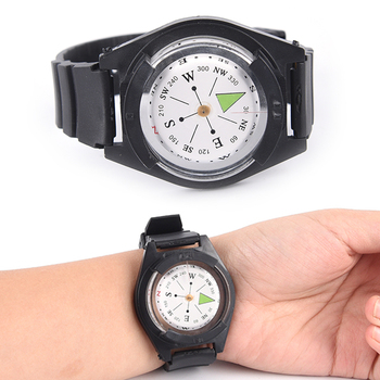 2018 High Quality Hiking Watch Black Band Tactical Wrist Compass For Military Outdoor Survival Camping 2