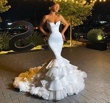 Великолепное длинное вечернее платье Русалка для выпускного