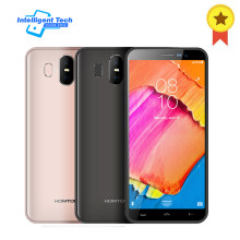 "HOMTOM S17 Android 8.1 Quad Core 5.5"" 18:9 Full Display Smartphone Fingerprint Face ID 2GB RAM 16GB ROM 13MP+8MP Mobile Phone(China)"