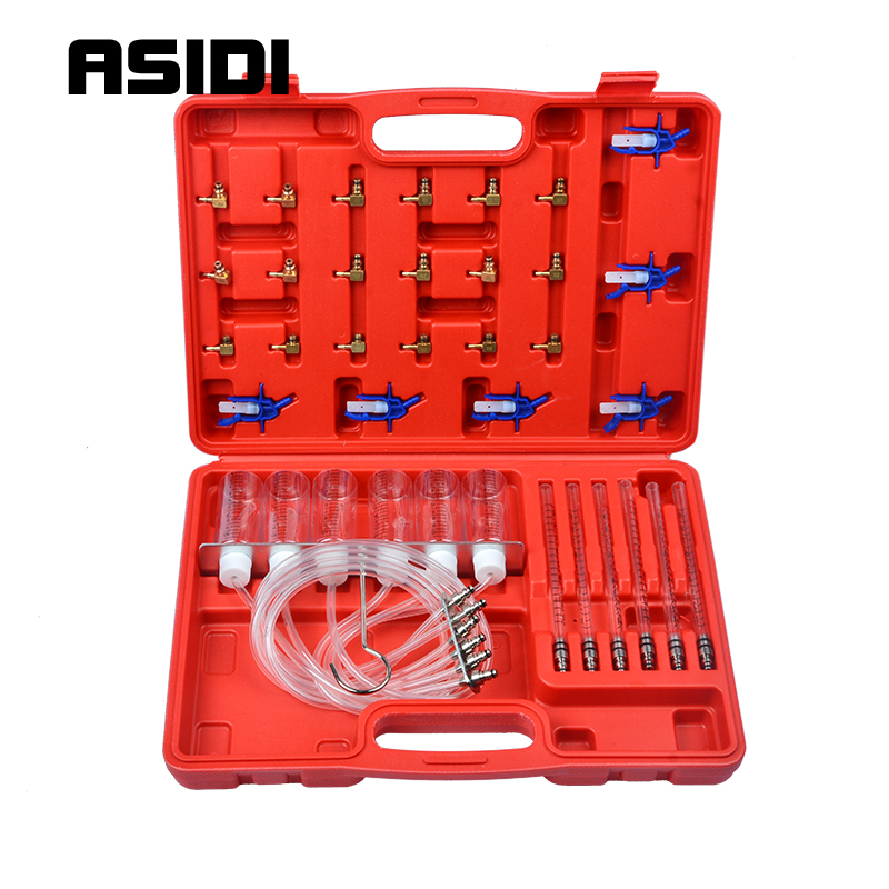 New Diesel Injector Flow Meter Test Kit Common Rail Adaptor Fuel Tester Set
