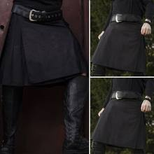 INCERUN 2020 Men Casual Skirt Pant Solid Color Punk Hip-hop Avant Garde Men Fashion Scotland Trousers Vintage Scottish Kilt 5XL(China)