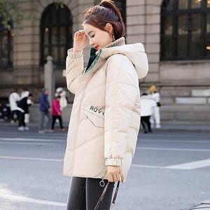 Image 3 - Guilantu kış ceket kadın artı boyutu 3xl ince kadın ceket kalın pamuklu yastıklı uzun Parkas Mujer kış kapşonlu parka kadın