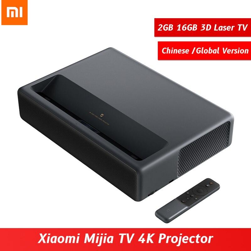 Xiaomi Mijia TV 2GB 16GB MIUI Laser HDR TV 4K Projector bluetooth WiFi 3D Home Theatre System Global Version MJJGTYDS01FM
