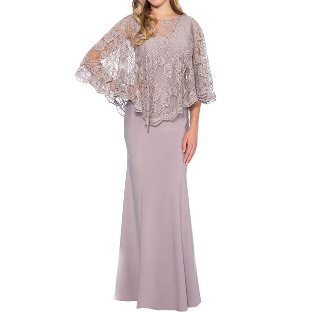 Plus Size Mother Of The Bride Dresses Mermaid V-neck Chiffon Lace Long Groom Mother Dresses For Wedding