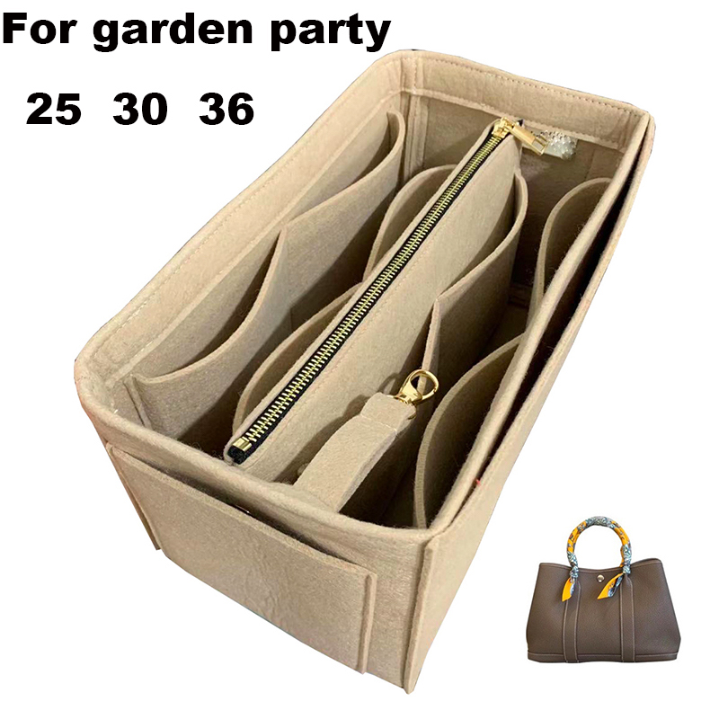 For Garden Party25 30 36-3MM Felt Cloth Insert Bag Organizer Makeup Handbag Organizer Travel Inner Purse Baby Cosmetic Bag