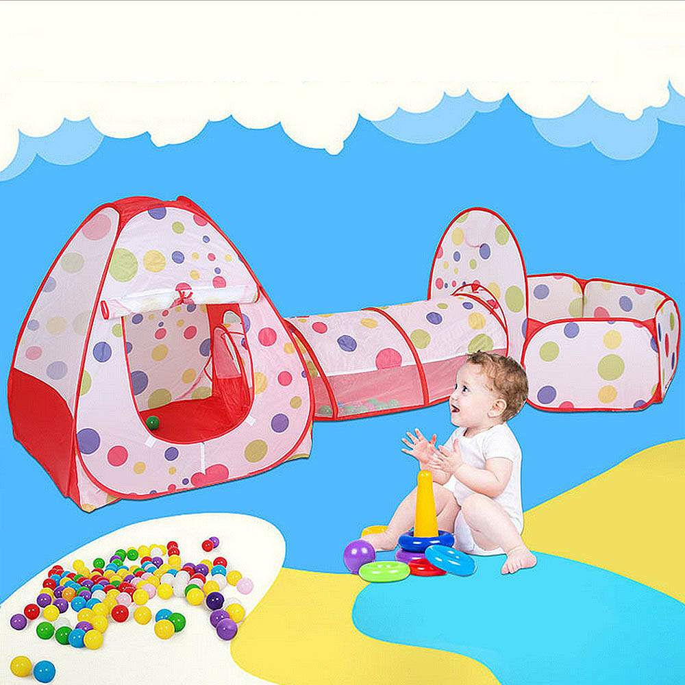 Baby Foldable Tent For Ocean Balls Kids Play Ball Pool Outdoor Game Large Tent For Kids Children Tent Tunnel Dropshipping
