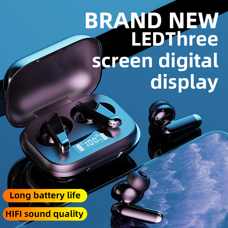 Мини-наушники-вкладыши TWS Bluetooth 5,0 Беспроводной наушники светодиодный наушники 9D Hi-Fi стерео спортивные Водонепроницаемый гарнитуры с микроф...