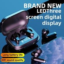 Mini Tws Bluetooth 5.0 Draadloze Hoofdtelefoon Led Oortelefoon 9D Hifi Stereo Sport Waterdichte Oordopjes Headsets Met Microfoons
