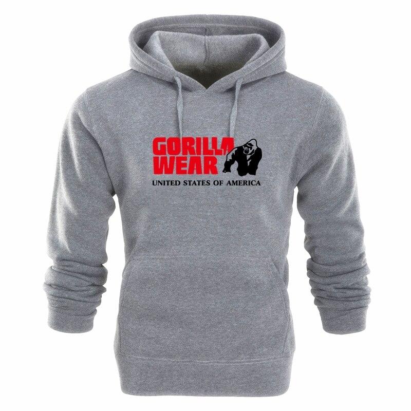 Брендовая мужская толстовка, мужская повседневная толстовка с капюшоном, мужская толстовка с принтом, модная одежда Gorilla, весна и осень 2020