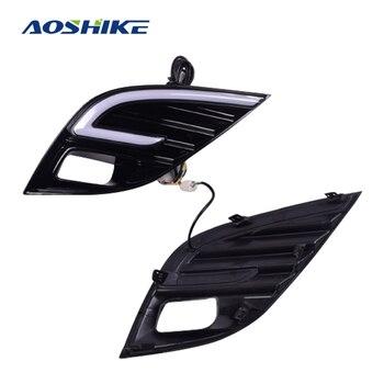 AOSHIKE 2PCS Car Accessories 12V 6000K 18 LED For 2018 Toyota Camry Daytime Running Lights LED Fog lamps Assembly