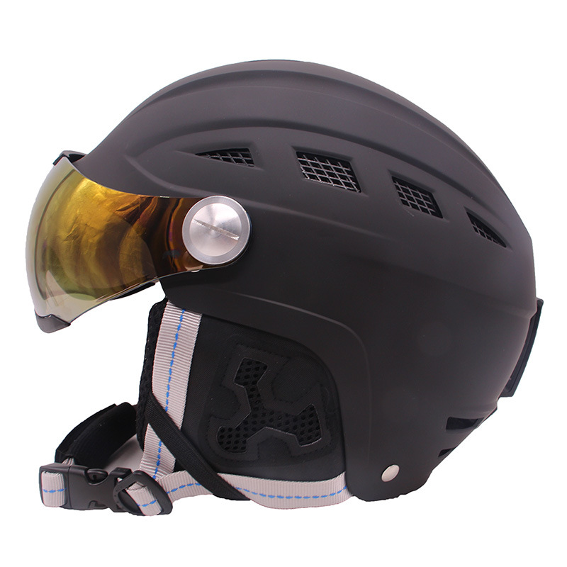 Ski Helmet Male And Female Adult Veneer Double Board Snow Helmet Cap Children Warm Helmet Ski Protective Gear