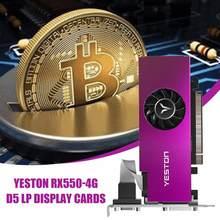 Yeston RX550-4G D5 LP Grafikkarten Radeon Chill 4GB Speicher GDDR5 128Bit 6000MHz VGA + HDMI-Kompatibel + DVI-D GPU