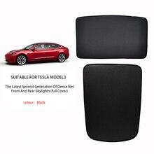 For Tesla Model 3 19-21/model Y Front Windshield Sunroof Blinds Sunshade Net Upgrade Sunshade Roof Glass Sunshade Net