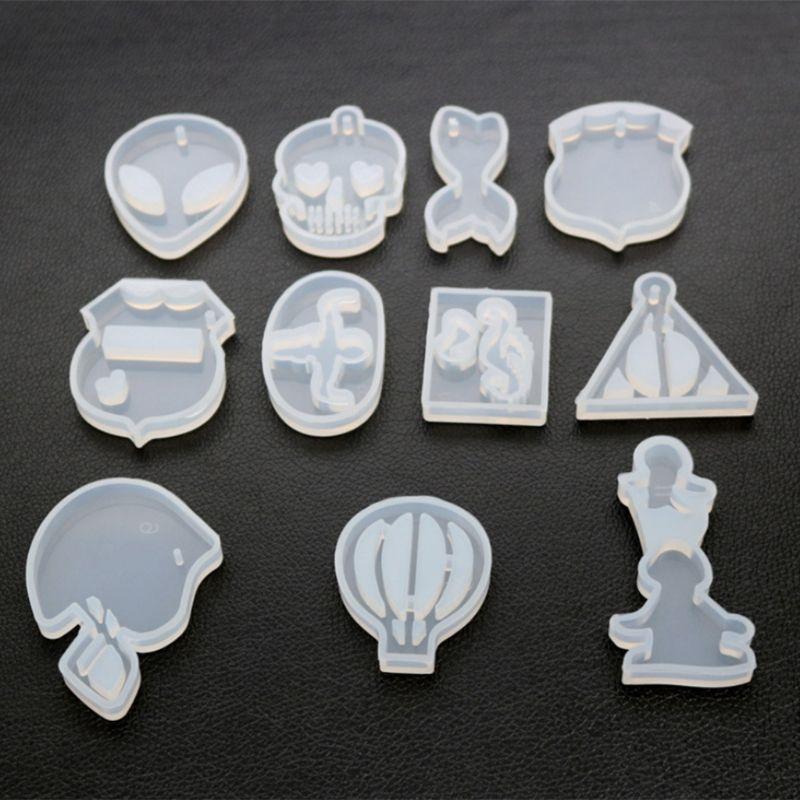 DIY Crystal Epoxy Silicone Mold High Mirror Hot Air Balloon Triangle Shape Molds