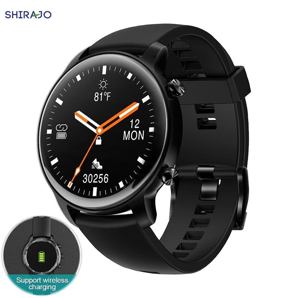 Relógio inteligente suporte de carregamento sem fio bluetooth rastreador de fitness com monitor de freqüência cardíaca 2021 versão smartwatch para android ios